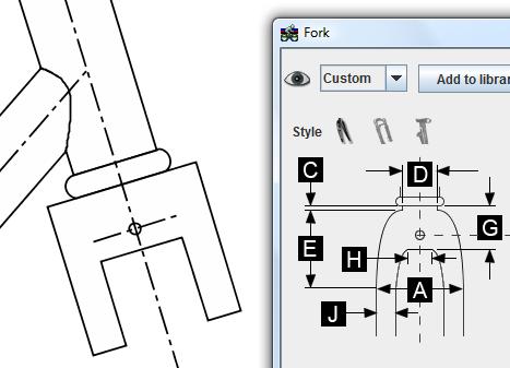 Fork dialog box