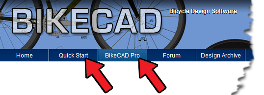 BikeCAD.ca menu