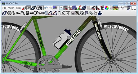 BikeCAD interface