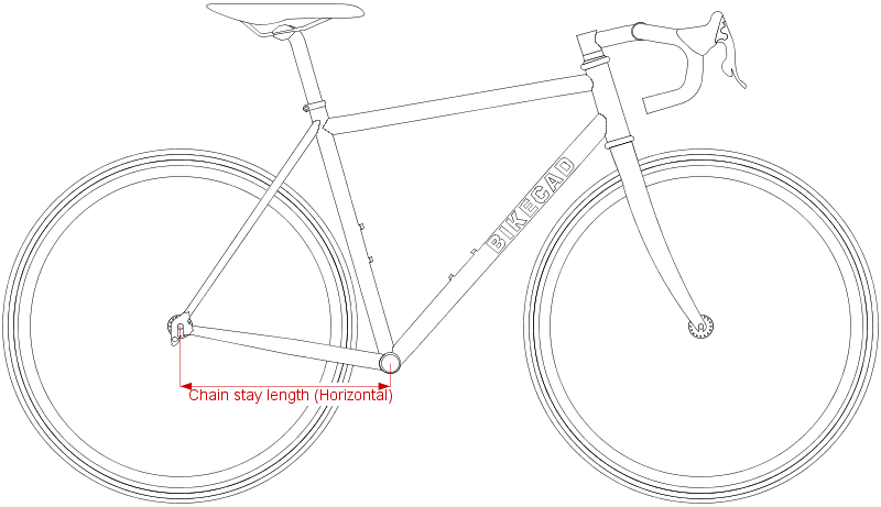 Horizontal chain stay length