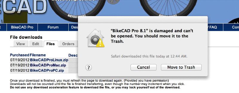 Damaged file on Mac