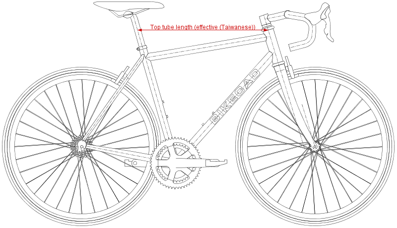 Effective Top Tube Length (Taiwanese)