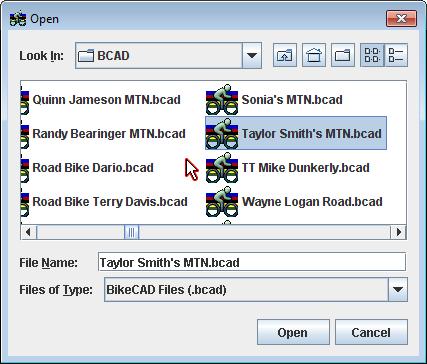 File Open Dialog Box