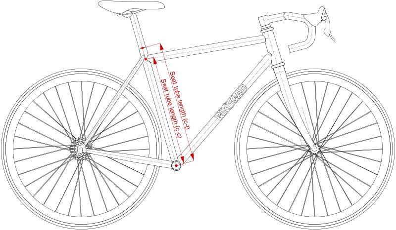 Resultado de imagem para bike seat tube range