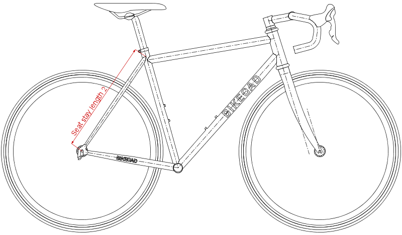 Seat stay length