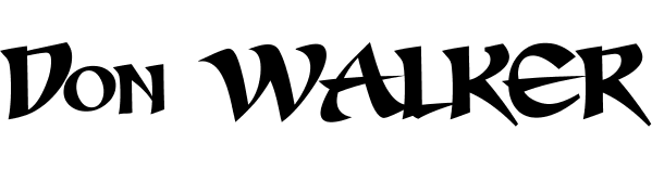 Don Walker font