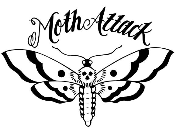 Moth Attack logo dingbat