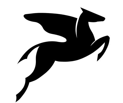Pegasus logo dingbat